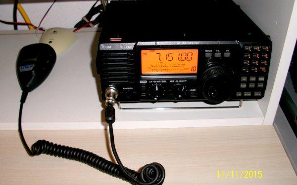 j'aie trouvé  un Radio Amateur F4HKD ami Marc OM de NICE pour me broché mon micro ASTATIC Made in USA sur Mon IC-718