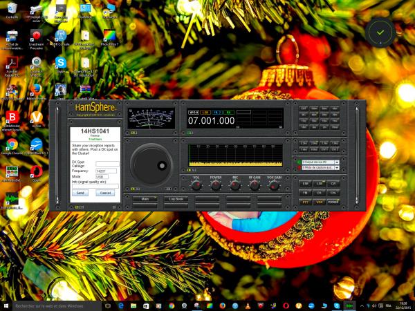 ........jais fais deux QSO avec des radioamateurs vraiment très sympathique........... et ce soire avec un station belge 23h30..il y a très longtemps je me suis servi de moins de communication tous au début de sa création et ceux la a bain évolué a ceux jour et an  jour et an cete année 2015 année 2015