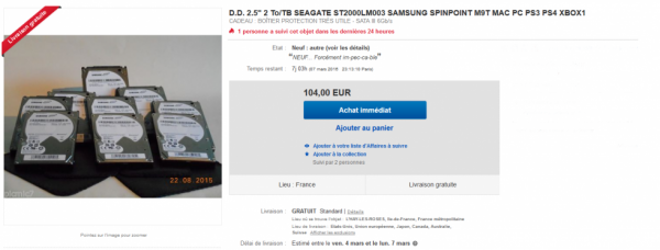 """D.D. 2.5"""" 2 To/TB SEAGATE ST2000LM003 SAMSUNG"""