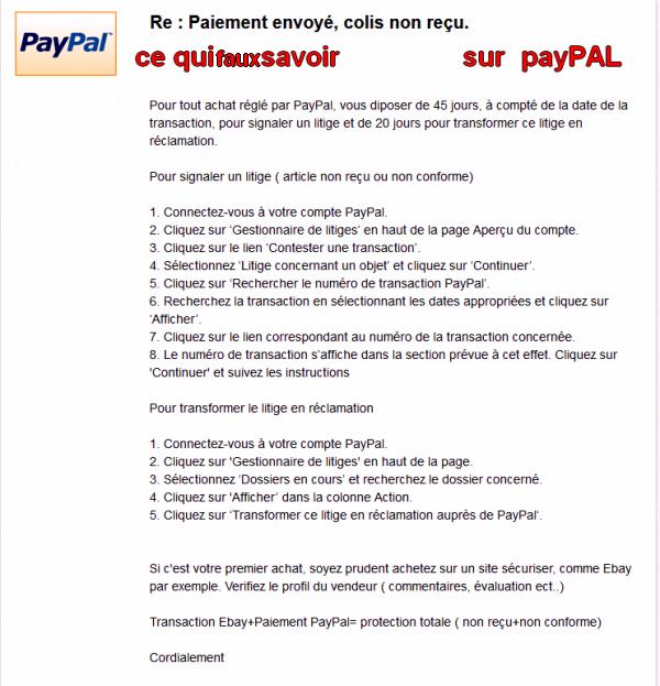 ce qui faux savoir  sur payPAL