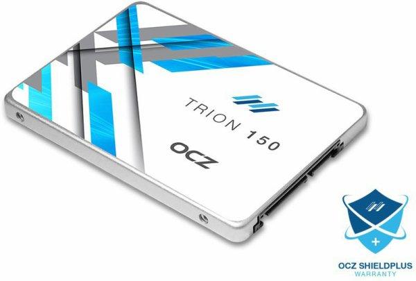 SSD OCZ Trion 150 - 480 Go   ocz  Le SSD Trion 150 d'OCZ représente le parfait compromis entre performances, fiabilité et prix compétitif ! Profitant de la qualité de fabrication d'OCZ, le Trion 150 bénéficie en outre de la mémoire flash Toshiba TLC NAND pour offrir une réactivité absolue à votre système !