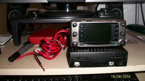 Icom IC-2800H  VHF/UHF  DUAL BAND TRANSCEIVER NICE 16/04/2016 radio brocante radioamateur et amateur radio 06 Alpes Maritimes