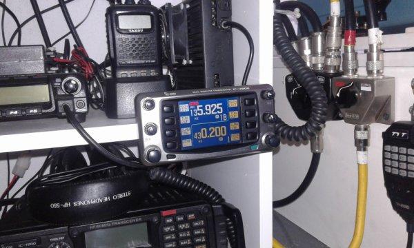 iC-2800 vhf uhf  AM FM je les installer avec son support d'origine