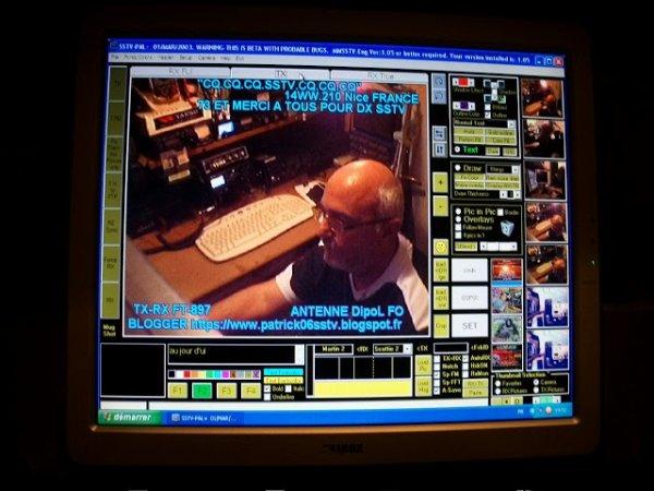 Le trafic des radioamateurs en SSTV