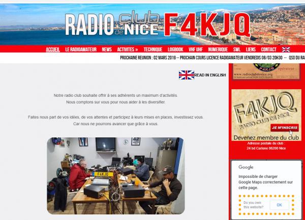 F4KJQ Radio Club de Nice - club radioamateur 06 Alpes Maritimes, french riviera ham