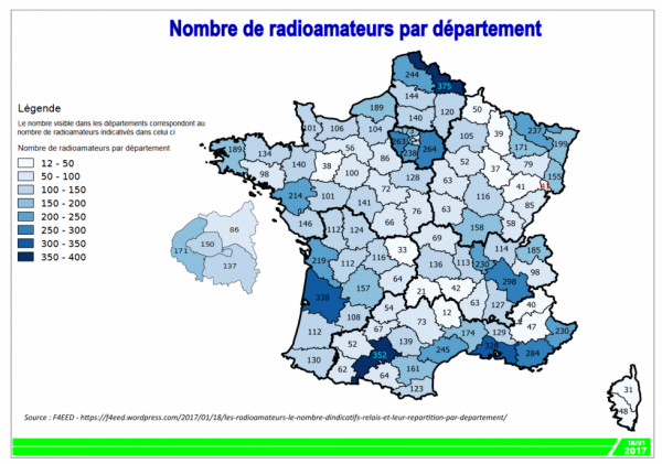 Statistiques radioamateurs en France
