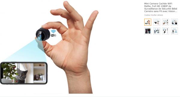 Caméra espion Full HD Wifi 1080P