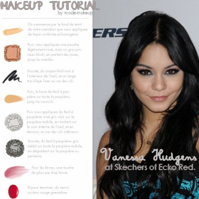 Tutoriel Make Up : Vanessa Hudgens