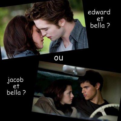 edward & bella ou jacob & bella