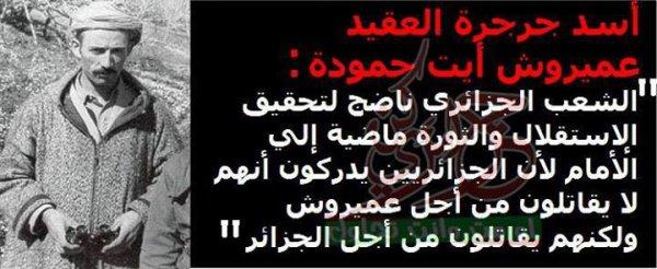 le colonel amirouche ait hamouda rebbi yerhmou le lion de la révolution algérienne.
