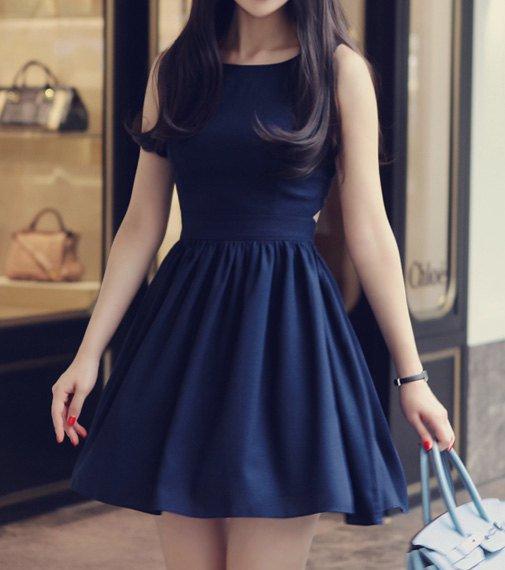 Robe casual bleu