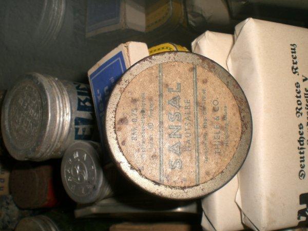 Jolie boîte de pommade allemande avec prix en reichsmark!!!