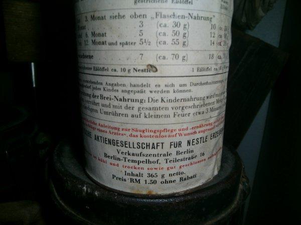 Conserve de lait en poudre avec prix en reichsmark!!!