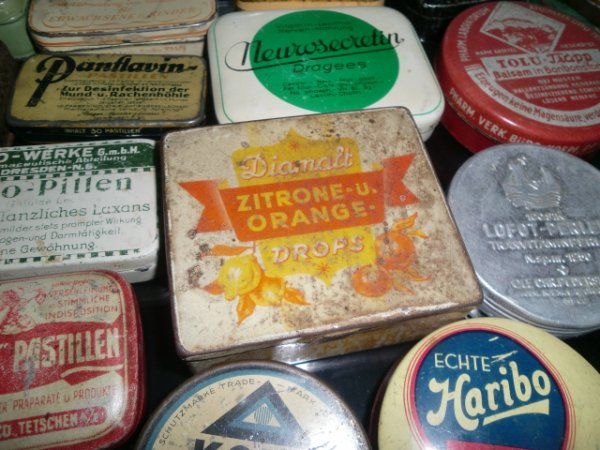 Boîte de bonbons allemands au citron et à l'orange 100% wk2!!!!
