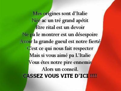 italie ou casse toi ,=)