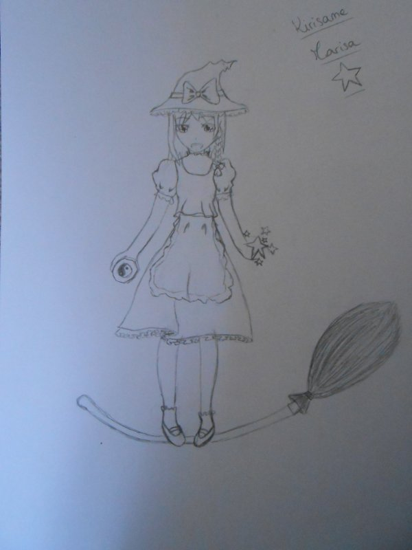 Kirisame Marisa, version non colorée