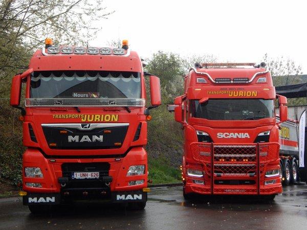 Man TGX 18.500 et Scania+Stas