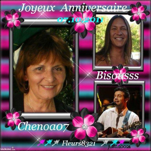 """Cadeau d'Anniversaire pour mon Amie ..."""" Chenoa07 """" ...Bisousss"""