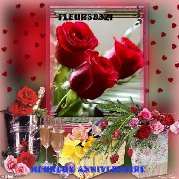 """Cadeau d'Anniversaire  reçue de mon Amie ..."""" florentdu14500 """"...MERCI du fond du coeur ...Bisousss"""