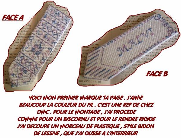 POINTS DE CROIX MARQUE TA PAGE