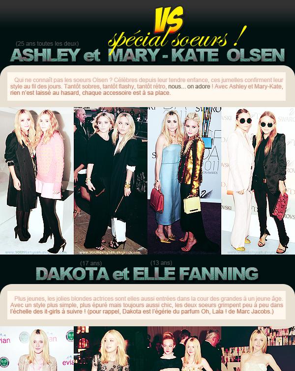 ♦  09  │  VS (spécial soeurs)   Article posté le 17 septembre 2011 par Natalia.   ●