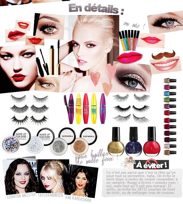 ♦  38  │  Des idées de make-up pour le Nouvel An !   Article fait par Natalia  et posté le  30 décembre 2011.   ●