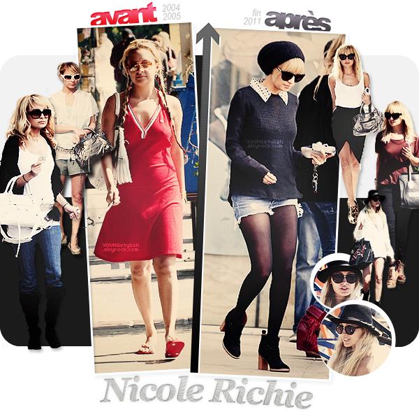 ♦  42  │  L'évolution de Nicole Richie   Article fait par Natalia  et posté le 19 Janvier 2012.   ●