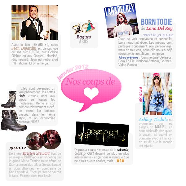 ♦  44  │  Coups de coeur du mois (janvier 2012)   Article fait par Nat et posté le  2 février 2012.   ●