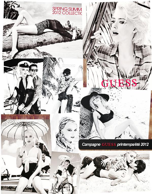 ♦  49  │  Amber Heard pour Guess   Article fait par Natalia et posté le 26 février 2012.   ●