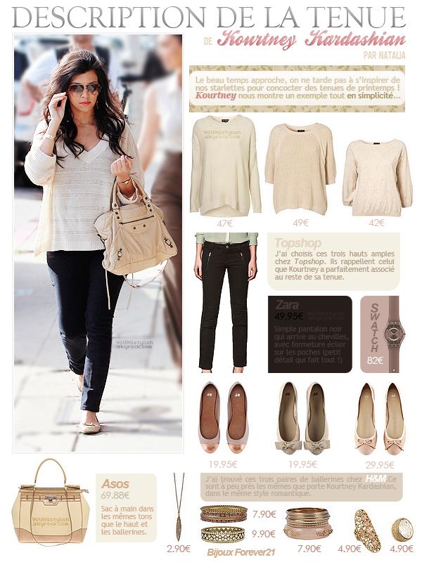 ♦  47  │  Description de tenue (Kourtney Kardashian)   Article fait par Natalia et posté le 19 février 2012.   ●