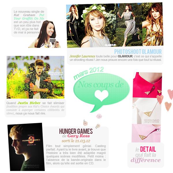 ♦  55  │  Coups de coeur du mois (mars 2012)   Article fait par Natalia et posté le 1er avril 2012.   ●