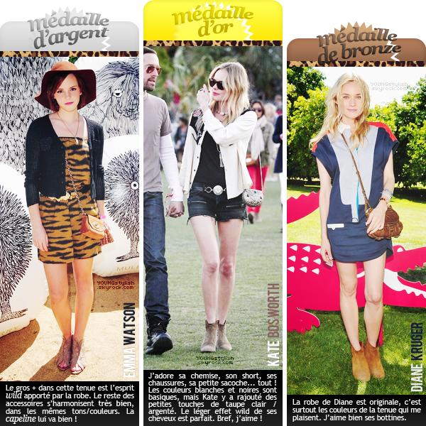 ♦  59  │  Podium et looks du Coachella (1ère semaine)   Article fait par Natalia et posté le 21 avril 2012.   ●