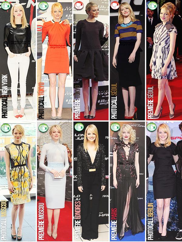 ♦  66  │  Fashion Marathon (Emma Stone)   Article fait par  Natalia et Seda et posté le 03 juillet 2012.   ●