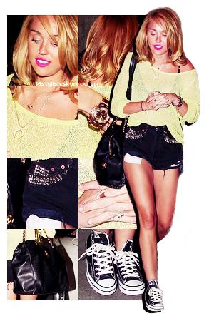 ♦  67  │  Look du jour ! (Miley Cyrus)   Article fait par Natalia et posté le 05 juillet 2012.   ●