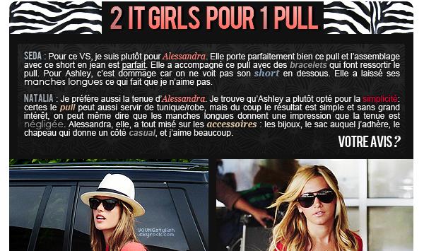 ♦  69  │  Alessandra Ambrosio VS Ashley Tisdale   Article fait par Natalia et posté le 19 juillet 2012.   ●