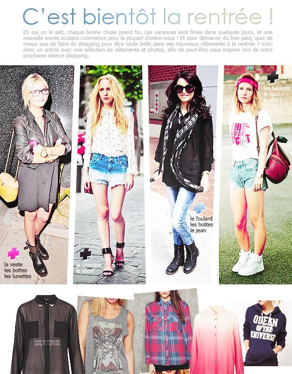 ♦  77  │  Inspiration shopping pour la rentrée   Article fait par Natalia et posté le 22 août 2012.   ●