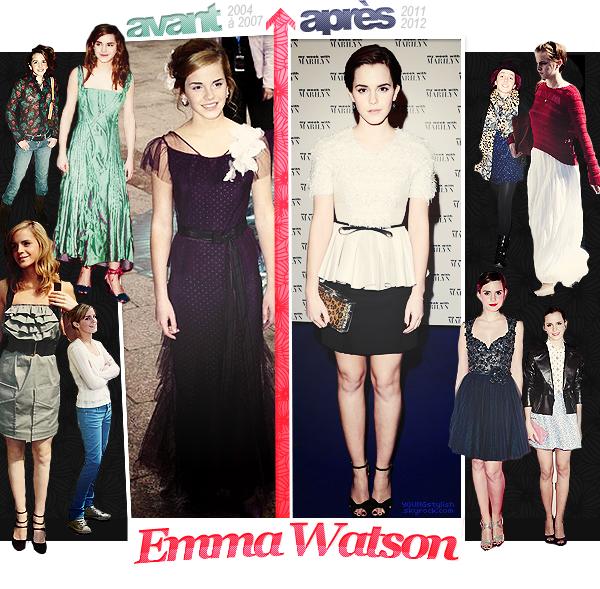♦  81  │  L'évolution de Emma Watson    Article fait par Natalia et posté le 20 octobre 2012.   ●