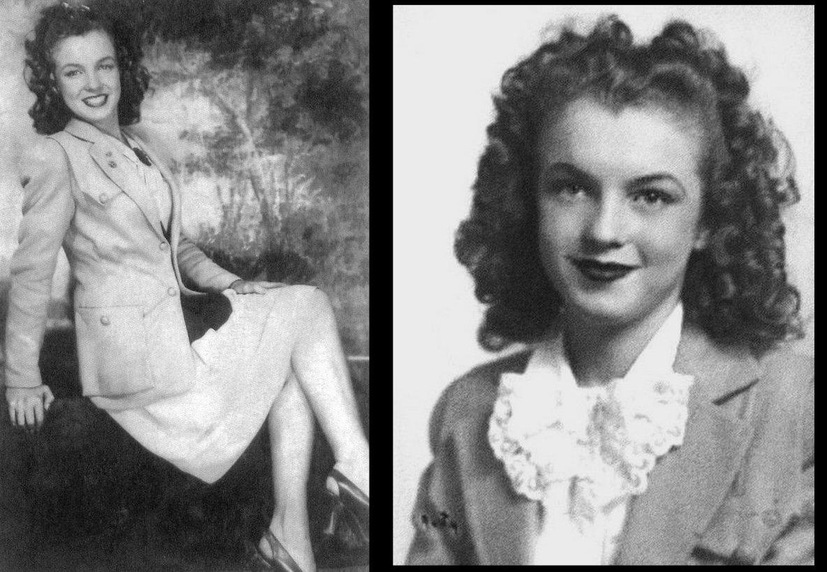 """En 1941, Norma Jeane fait la connaissance de James « Jim » DOUGHERTY, un voisin de cinq ans son aîné, ouvrier dans la première usine de drones radio-commandés, """"la Radioplane Company"""", créée par l'acteur Reginald DENNY. Grace, qui arrange le mariage, organise les noces qui ont lieu le 19 juin 1942, soit quelques jours après son seizième anniversaire. Un an plus tard, Jim rejoint la marine marchande puis en 1944 l'équipage du B-17 au-dessus de l'Allemagne, avant son retour à la vie civile dans le LAPD. Norma Jeane travaille à l'ignifugation des ailes d'avions et à l'inspection des parachutes dans l'usine de son mari."""