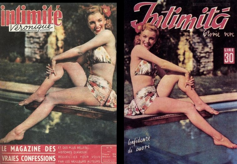 """""""Scudda Hoo ! Scudda Hay"""" (part 2) : synopsis : Les malheurs sentimentaux d'un fermier, amoureux de la fille de son patron. (film réalisé par F Hugh HERBERT) (photos publicitaires de Marilyn pour la promotion du film)."""