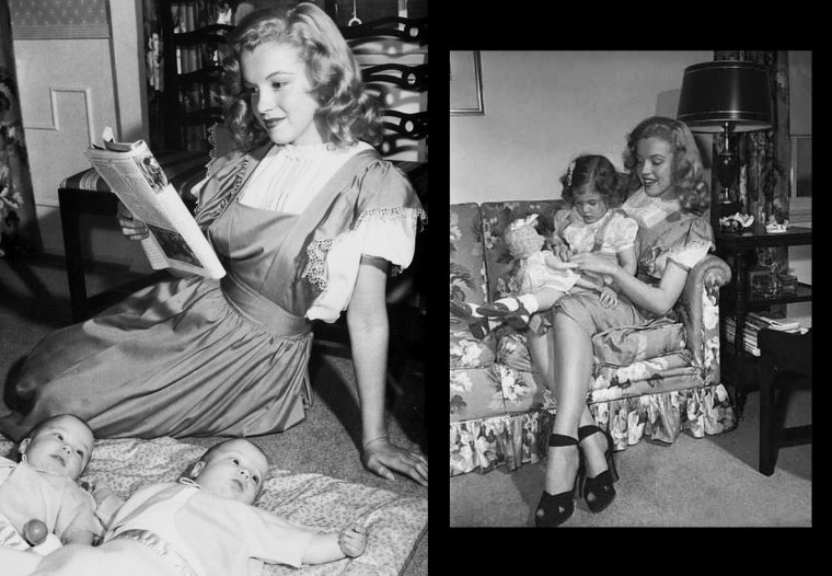 Quand Marilyn s'adonne aux joies du baby-sitting pour une publicité sous l'oeil de Dave CICERO.