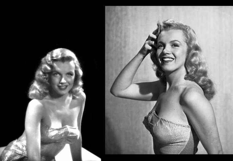 "Portraits publicitaires de Marilyn pris par J.R. EYERMAN pour le film ""Love Happy"" en 1949."