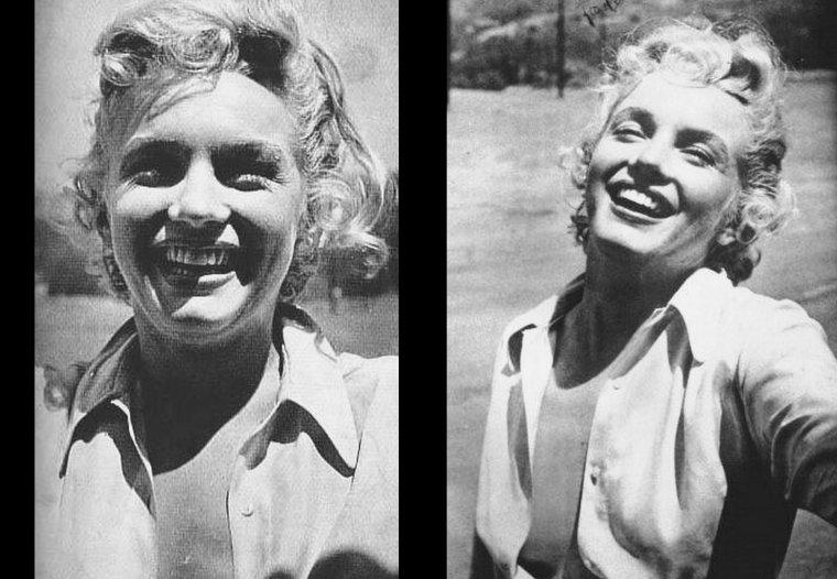 """1952, Marilyn laisse éclater sa joie, le tournage de """"Clash by night"""" est terminé..."""