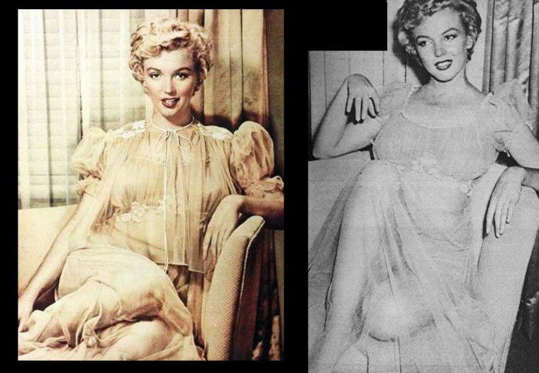 1952, session photos de Carlyle BLACKWELL Jr, où Marilyn pose en lingerie.