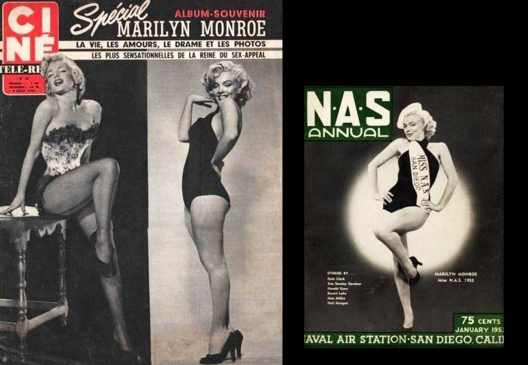 "1952, Marilyn est élue ""Miss N.A.S."" (Naval Air Station) de San-Diego."