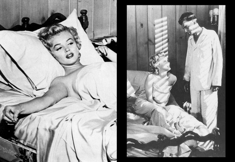 """1952-53, Marilyn dans """"Niagara"""" d'Henry HATHAWAY / Commentaire / """"Niagara"""" est un film cher pour nombre de cinéphiles. L'½uvre doit son importance dans l'histoire du cinéma hollywoodien aussi bien à la mise en scène méticuleuse du réalisateur Henry HATHAWAY qu'à l'avènement de la légende cinématographique qu'incarne toujours aujourd'hui Marilyn MONROE. Il est donc aisé d'aborder """"Niagara"""" sous ces deux aspects. En ce début 1953, Marilyn ne rayonne pas encore au sommet de l'Olympe hollywoodien. Ses rôles précédents, de premier ou de second plan, ont progressivement permis à la comédienne de se faire remarquer, puis de titiller l'imagination des spectateurs grâce à une plastique de rêve, une apparente ingénuité et une charge érotique plus ou moins discrète.Dans """"Niagara"""", même si Marilyn MONROE est bien moins présente à l'écran qu'on pourrait le penser, on ne voit qu'elle (on ne révélera rien ici qui pourrait gâcher le plaisir du lecteur). Même hors champ, son existence conditionne celle de tous les autres protagonistes. Associée aux chutes du Niagara, son personnage est le centre d'intérêt pour tout ce qui concerne l'action et les passions contenues (ou non) du film..."""