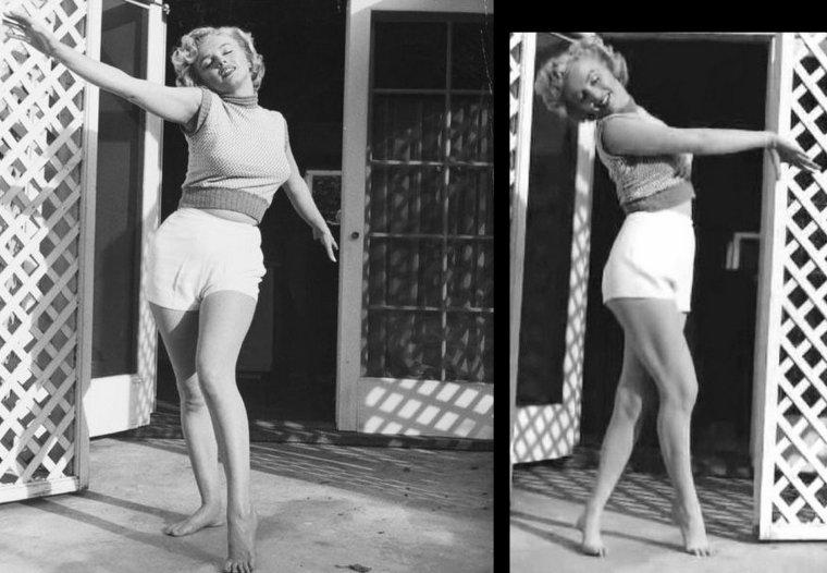 """1953, Marilyn pose pour André De DIENES sur une des terrasses du """"Bel-Air Hôtel"""" (part 2)."""