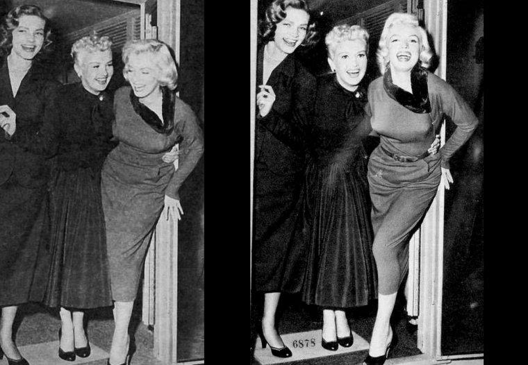 """1953 """"How to marry a millionaire"""" (Comment épouser un millionnaire) de Jean NEGULESCO / Commentaire (part 2) / On ne peut pas dire que, dans cette intrigue, les femmes soient présentées sous leur meilleur jour. Les trois amies sont opportunistes, intéressées, cupides et font passer l'argent avec un grand $ avant l'amour avec un grand A. Dans cette comédie qui est issue du théâtre de boulevard et dont le ton est bon enfant, elles sont cependant des opportunistes sympathiques, des femmes intéressées touchantes et elles tombent finalement amoureuses d'hommes sans le sou, ou censés l'être. Cameron MITCHELL, qui joue le rôle de Tom, le millionnaire pris pour un pompiste, interprète la voix de Jésus dans """"La tunique"""" (1953). Il n'est pas mentionné au générique de ce film mais il aura ainsi participé aux deux tout premiers films en CinemaScope. Le film a été nommé pour plusieurs récompenses mais n'a gagné aucune de celles-ci : Oscars 1954, meilleurs costumes de film en couleurs, Charles Le MAIRE ; """"Writers Guild of America"""" (association des scénaristes américains) 1954, meilleur scénario de comédie, Nunnally JOHNSON ; prix BAFTA (British Academy of Film and Television Arts Awards, prix de l'académie britannique des arts du cinéma et de la télévision) 1955, meilleur film. Une amusante situation """"culturelle"""". À deux moments dans le film, le personnage interprété par Marilyn évoque un """"You know what they say about girls who wear glasses ?"""" (Vous savez ce qu'on dit des filles à lunettes ?). Et le spectateur francophone de la seconde moitié du 20ème siècle d'être un peu surpris et curieux de la réponse qui va être donnée. La réponse américaine vient : """"Men aren't intended to girls with glasses"""" (Les hommes ne s'intéressent pas aux filles qui portent des lunettes)..."""