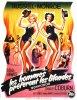 """1953, AFFICHES MONDIALES du film """"Gentlemen prefer blondes"""" (Les hommes préfèrent les blondes) de Howard HAWKS (part 2)."""