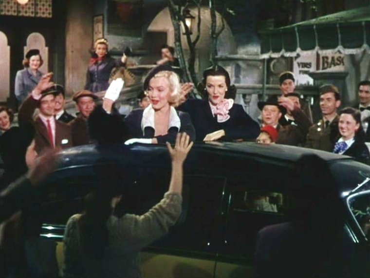"1953 ""Gentlemen prefer blondes"" (Les hommes préfèrent les blondes) de Howard HAWKS / ""When love goes wrong..."" (final)."
