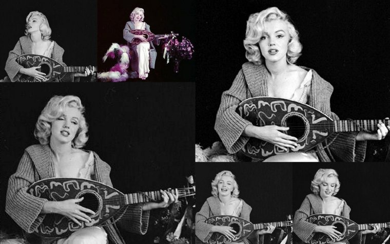 "1953, Marilyn by Milton GREENE, session ""Mandolin"" (part 2)."